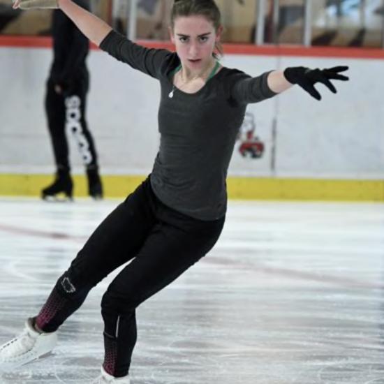 Lea Serna à l'entrainement à Poitiers